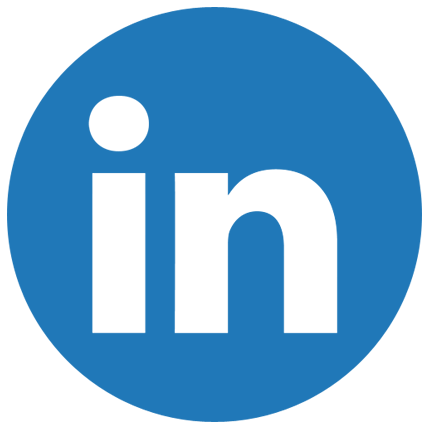 linkedin round icon white